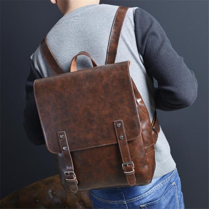 High Quality Vintage Women Backpack Leather Bags New Arrival Backpacks For Teenage Girls Fashion Bag Men Back Pack Bolsa Mochila deanfun emoji backpack 2016 new fashion women backpacks 3d printing bags drawstring bag for men s79