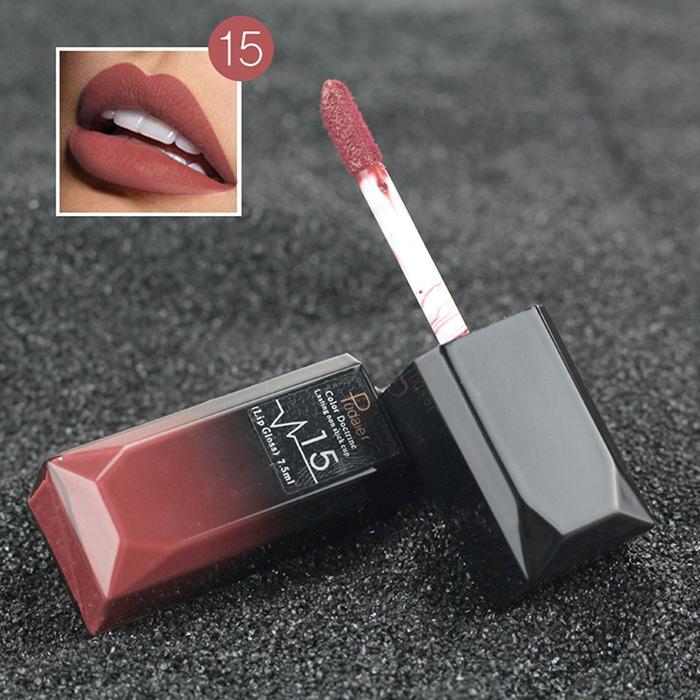 Nude Sexy Lipstick Metallic Lip Gloss Longlasting Pigment Matte Liquid Lipstick Women Fashion Makeup Cosmetic Valentine's GIFT 1 18