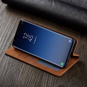 Image 4 - Flip Kapak Cüzdan Lüks Deri Telefon samsung kılıfı Galaxy S9 Artı Kart Standı GalaxyS9 S9Plus SM G960 G965 SM G965F SM G960F
