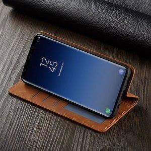 Image 4 - กระเป๋าสตางค์หนังหรูสำหรับ Samsung Galaxy S9 Plus การ์ด GalaxyS9 S9Plus SM G960 G965 SM G965F SM G960F