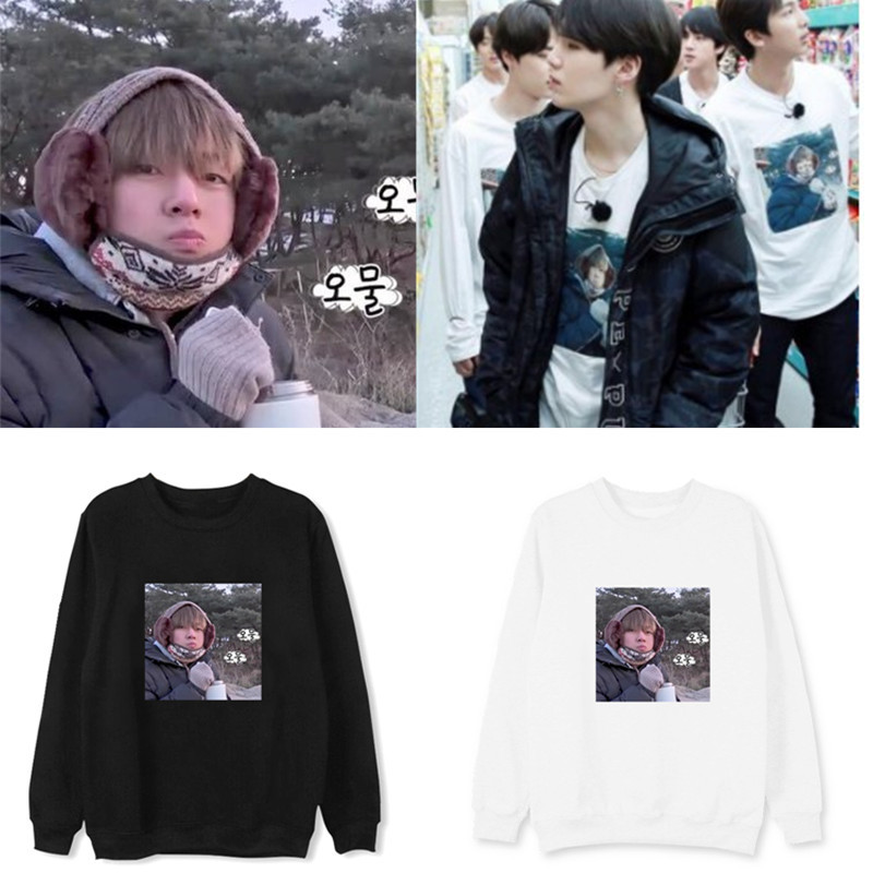 kpop BTS Bulletproof Youth League Jin Taiheng with the fashion round neck blouse loose spring and autumn thick pullover