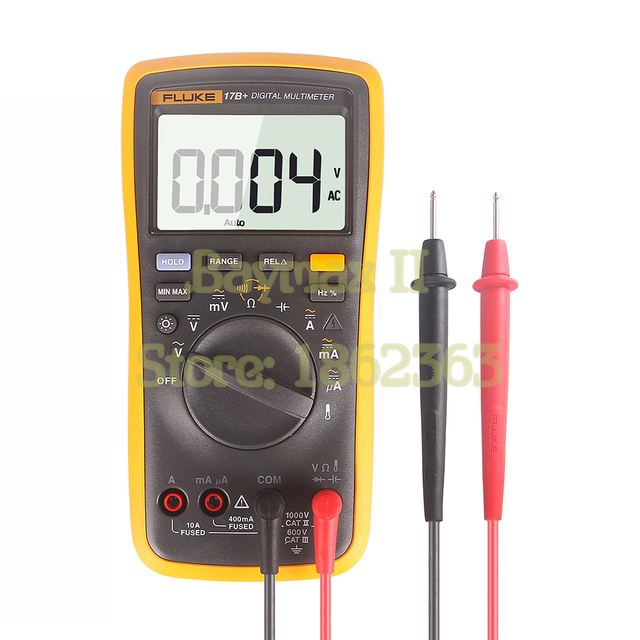 fluke 17b ac dc voltage current capacitance ohm auto manual range rh aliexpress com fluke 11 multimeter manual fluke 11 multimeter manual