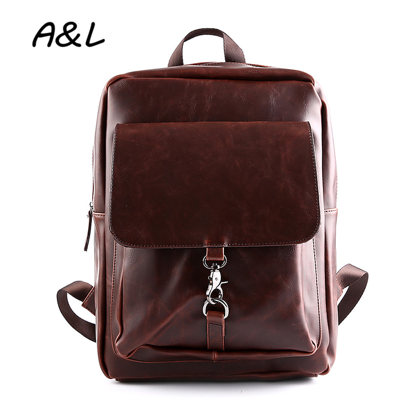 2016 Brand Designer Men Backpack Man Travel Bags Leather School Backpacks for Teenagers High Quality Laptop Bags Mochilas A0203 hot 2017 new brand laptop business genuine leather backpack men backpacks travel bag school bags men s backpack high quality