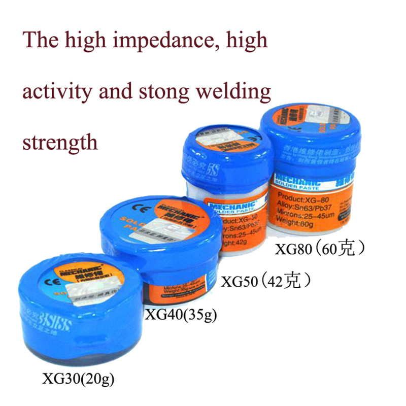 1pcSoldering Paste Flux XG-30/40/50/80 Solder Tin Sn63/Pb67 For Hakko 936/Saike 852D++ TS100 Soldering Iron Circuit Board Repair air soft weapon gun 3 9x40 hunting rifle scope mil dot illuminated snipe scope