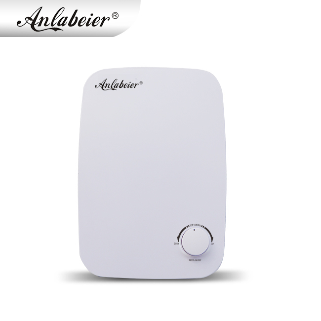 Anlabeier Factory Price Mini Bathroom Instant Electric Water Heater For Tankless Hot Shower With Fully Variable Knob ControlAnlabeier Factory Price Mini Bathroom Instant Electric Water Heater For Tankless Hot Shower With Fully Variable Knob Control