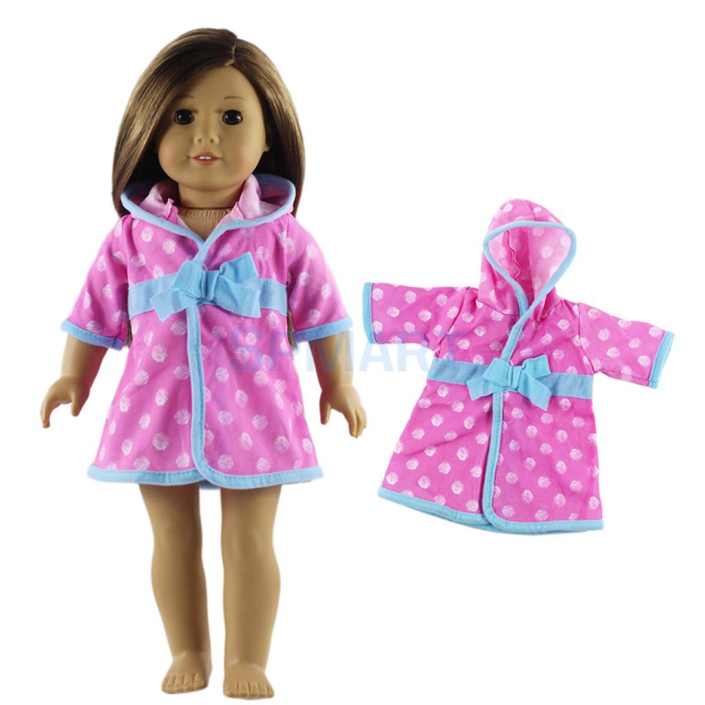 Doll Clothes - Pink Satin PJs Pajama Set Outfit Fits