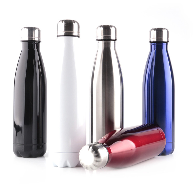 Stainless steel bicycle sports drink water bottle vacuum flasks camping kettle sport drinking bottles for travel hiking kettles
