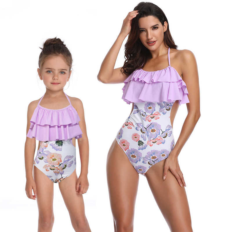 9e0f512f813 ... Mother Daughter Swimsuit One Piece Mom and Daughter Bathing Suit  Swimwear Family Matching Clothes Family Look ...