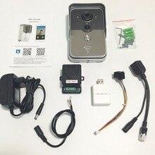 Wi-fi Смарт-Видео Домофонов 1.0MP HD 720 P IP Камеры Беспроводные Видео-Домофон Водонепроницаемый Iphone Android APP Мобильный Звонок