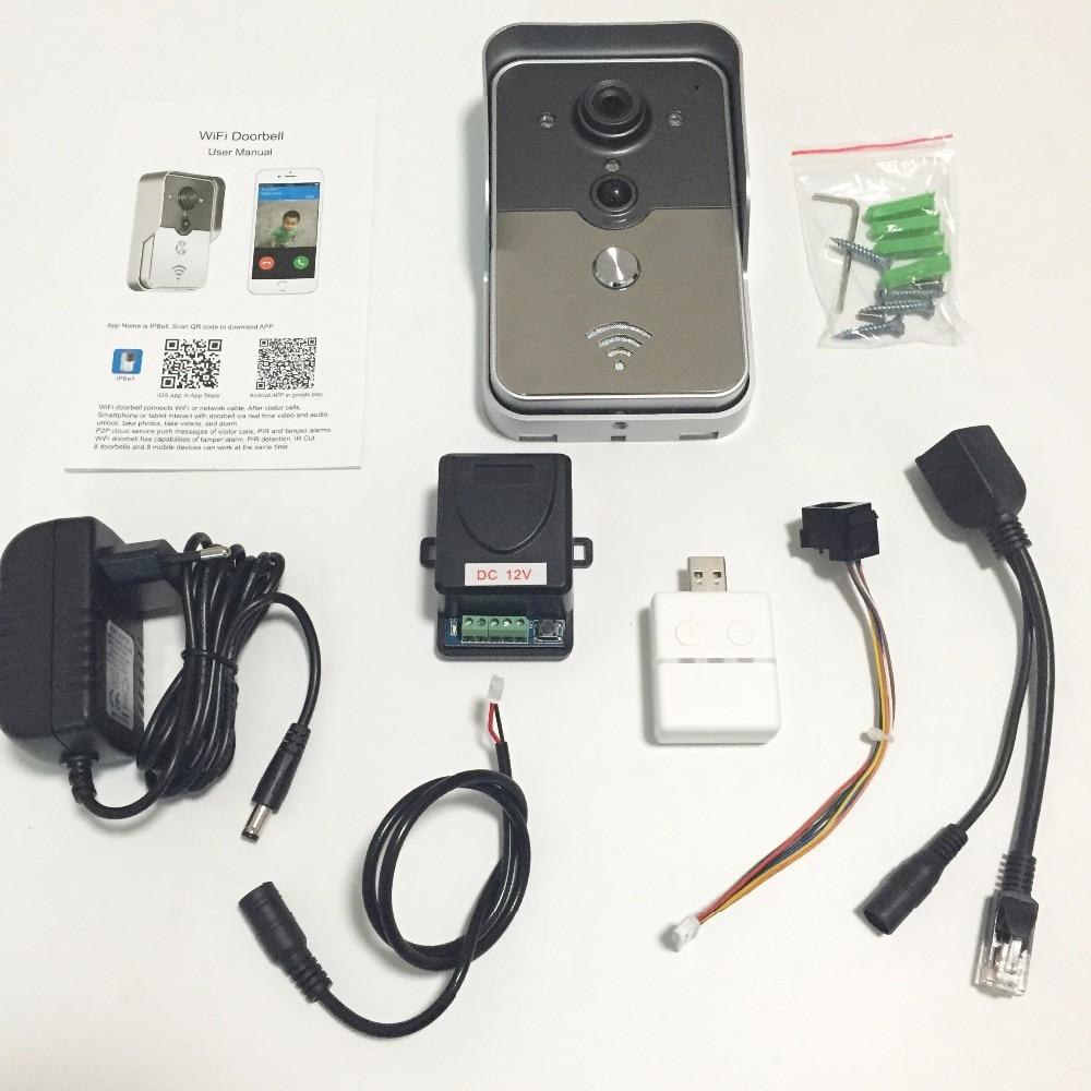 bilder für WiFi Smart Video Türsprechanlage 1.0MP HD 720 P Ip-kamera Drahtlose Video-gegensprechanlage Wasserdichte Iphone Android APP Mobile Türklingel