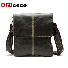 Genuine Leather Messenger Bag Men Shoulder Small Male Man Crossbody Bags For Handbag 8006