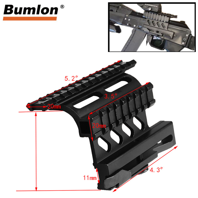 Tactical AK Serie Rail Side Mount Quick QD Style AK47 AK74 SAIGA Detach 20mm weaver rail for Hunting Airsoft Scope RL2-0041