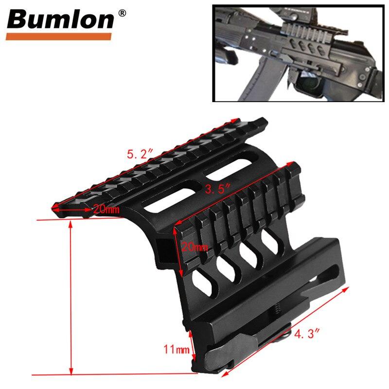 Tactical AK Serie Schiene Seite Montieren Schnell QD Stil AK47 AK74 SAIGA Lösen 20mm weaver schiene für Jagd Airsoft umfang RL2-0041