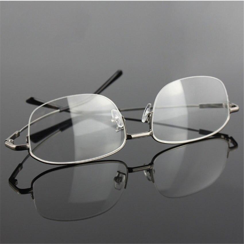 YOOSKE Speicher Titan Brille Halb Rahmen Optische Brillen Rahmen ...
