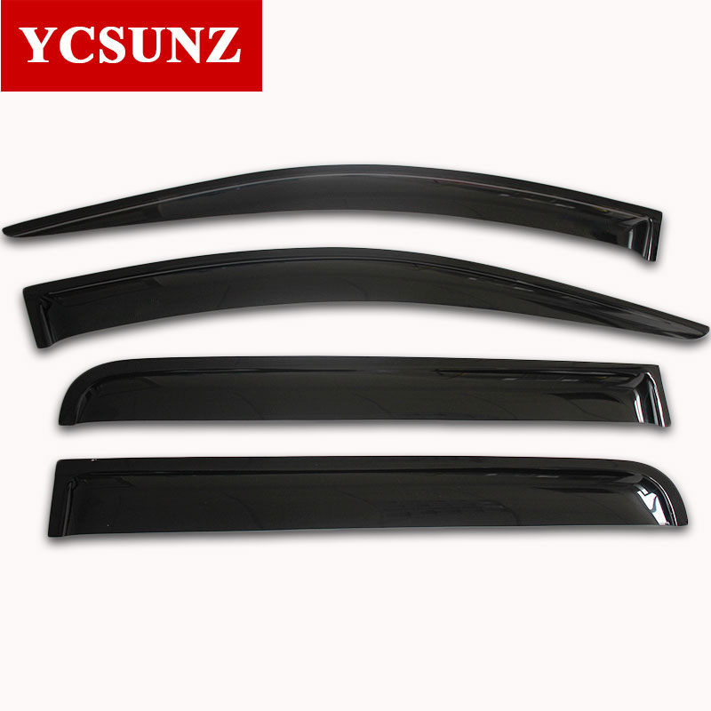 2016-2017 Side Window Deflectors For Mitsubishi L200 Pickup Black Color Car Wind Deflector Guard For Mitsubishi L200 Ycsunz 4pcs set smoke sun rain visor vent window deflector shield guard shade for cadillac xt5 2016 2017