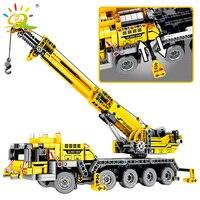 665pcs Technic Engineering Lifting Crane Building Blocks Compatible legoing Technic truck Construction Brick Toys For children