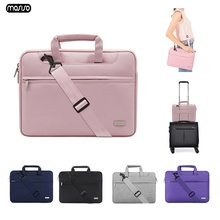 MOSISO Casual Waterproof Polyester Laptop Briefcase 13 14 15 inch Notebook Shoulder Bag Carry Case For Women and Men