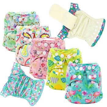 15013282eeb9 Herbabe 10 capas 5/10 piezas reutilizables Soakers de pañal de tela camisas  de 100% algodón súper absorbente bebé pañal para pañales de tela