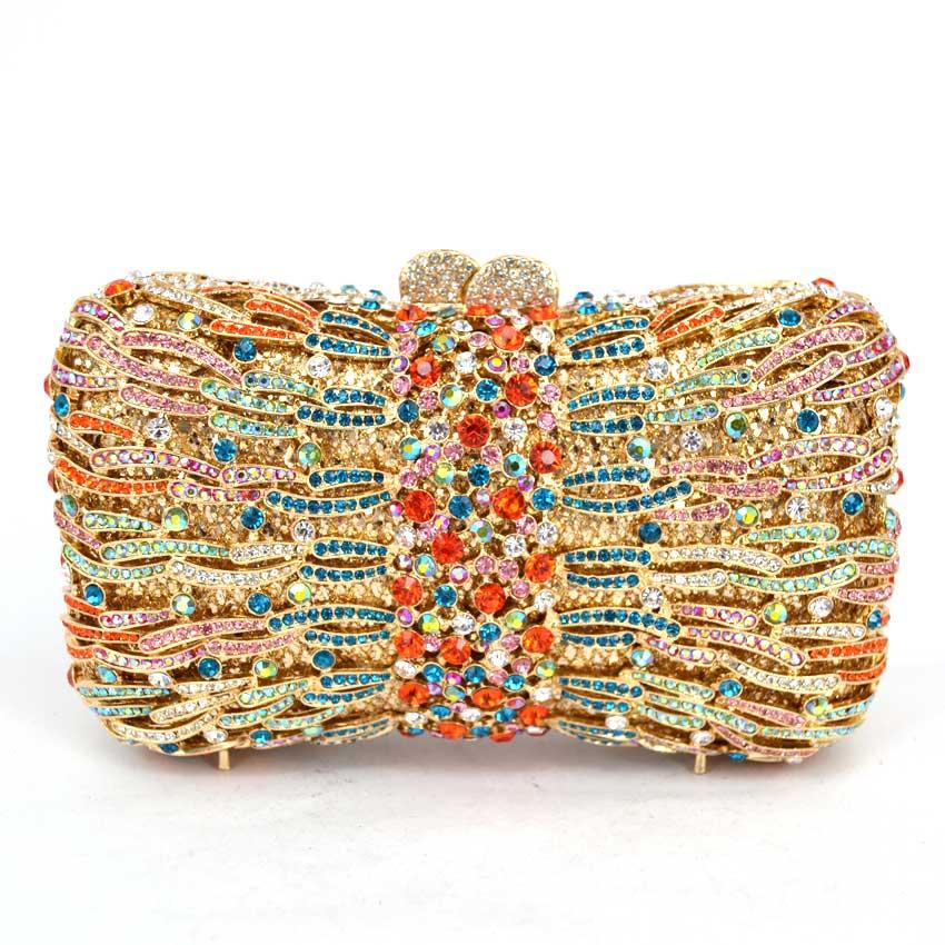 Mujeres de los bolsos diseñador Bolso de Noche de Cristal de lujo Bolsos de Las