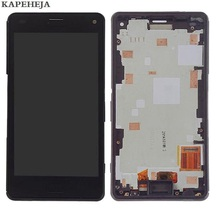 4.6For SONY Xperia Z3 mini Z3 compact D5803 D5833 LCD Display Touch Screen Digitizer Assembly with Bezel Frame 4 6 inch black for sony xperia z3 compact lcd display z3 mini lcd d5803 d5833 touch screen digitizer assembly adhesive