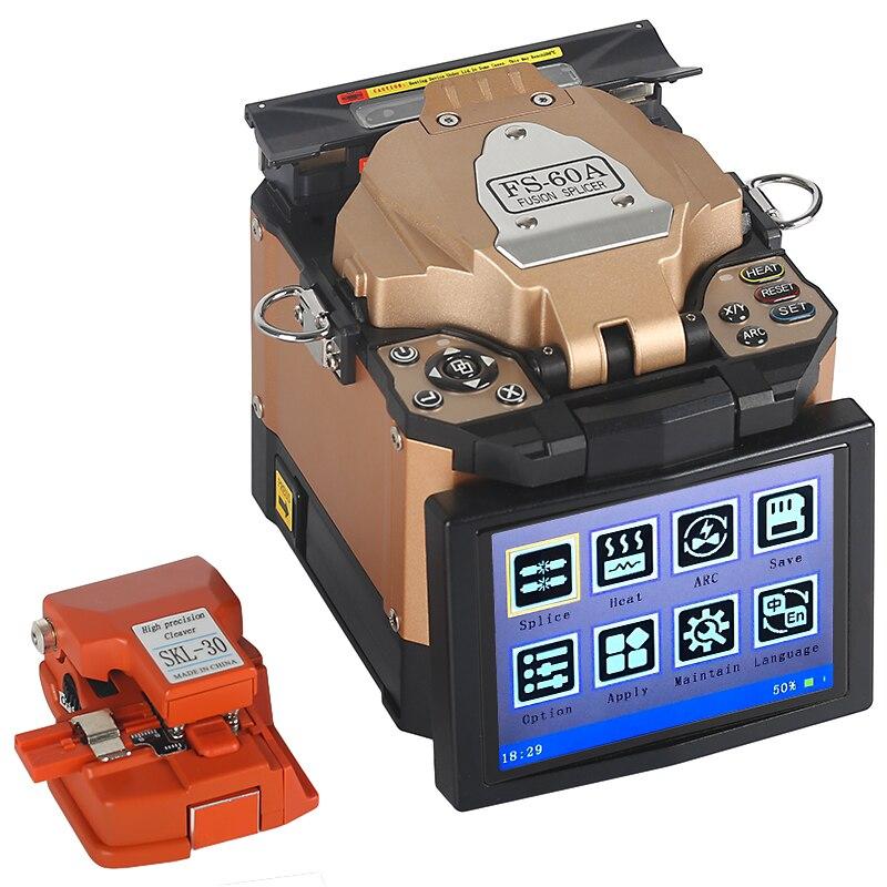 A full set of FTTH Fiber Optic Splicer Fiber Optic Fusion Welding Splicing Machine FS 60A