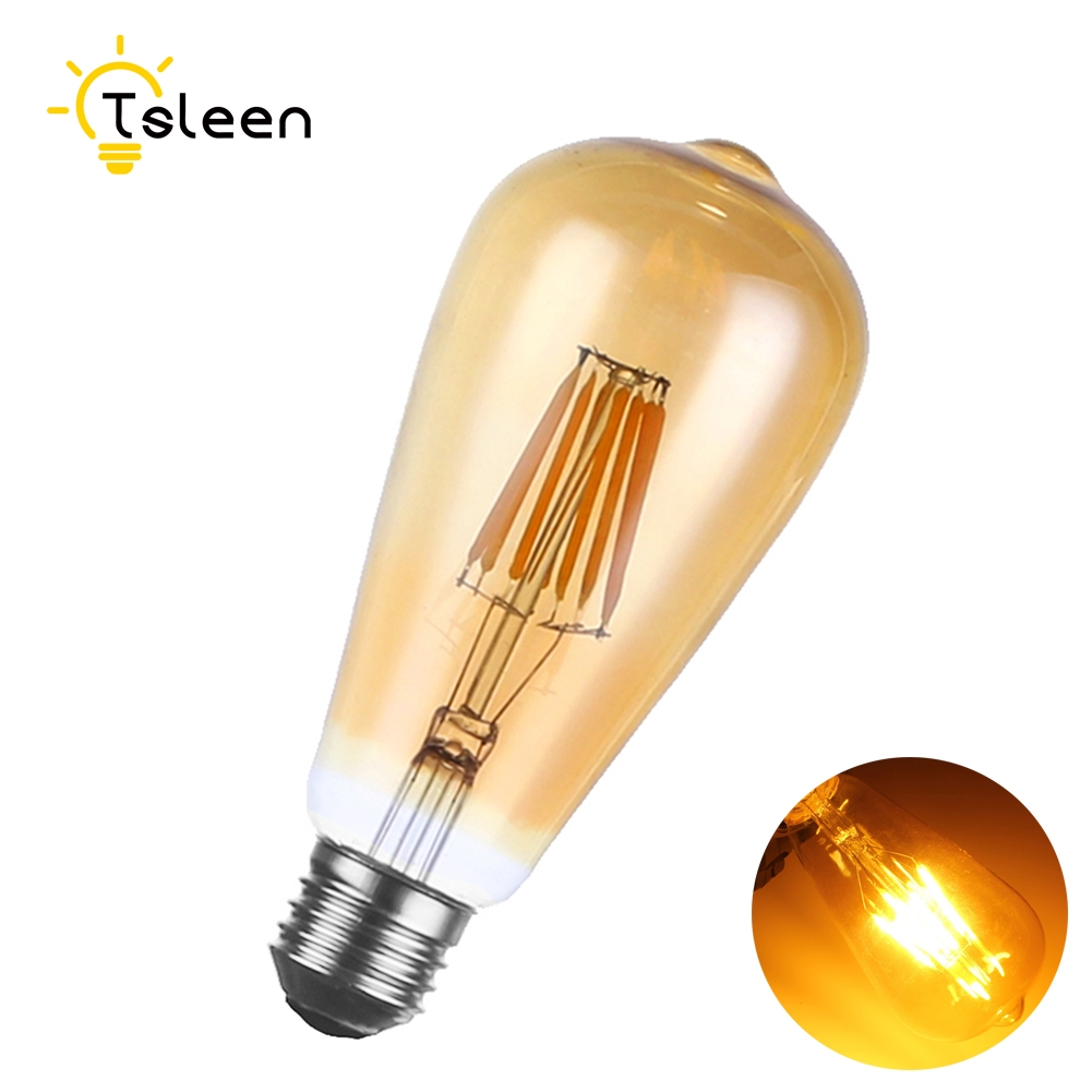 E26 120V 130V 110V protect eyes LED Filament Bulb 8w 16w Design lamp G45 A60 ST64 globe Edison Retro LED candle light Bulbs