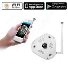 Livraison gratuite! HD 960 P WIFI Sans Fil Fisheye Panoramique 360 degrés IP VR Vidéo CCTV Bébé Nuit Caméra