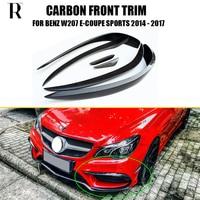 C207 Carbon Fiber Front Bumper Side Canards Splitter Spoiler for BENZ W207 E coupe E200 E300 E400 E500 with Amg Package 14 17