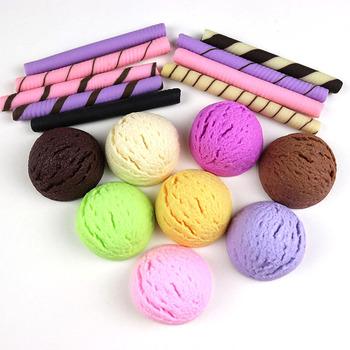 Sztuczny sklep dekoracyjne jedzenie kolorowe pcv symulacja lody piłka czekoladowe herbatniki trzymać Model żywności tanie i dobre opinie EasinFlo