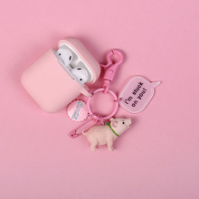 Cute Cartoon dog Silicone Case for Apple Airpods  Bluetooth Earphone Accessories Headphone Protective Cover Keychain