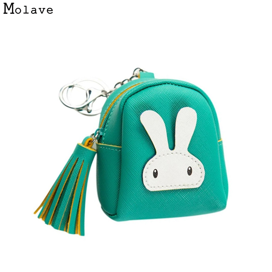 Naivety Drop Shipping Women Cute Coin Purse PU Leather Cartoon Rabbit Printing Short Wallet Animal Monedero De La Moneda 28S7626