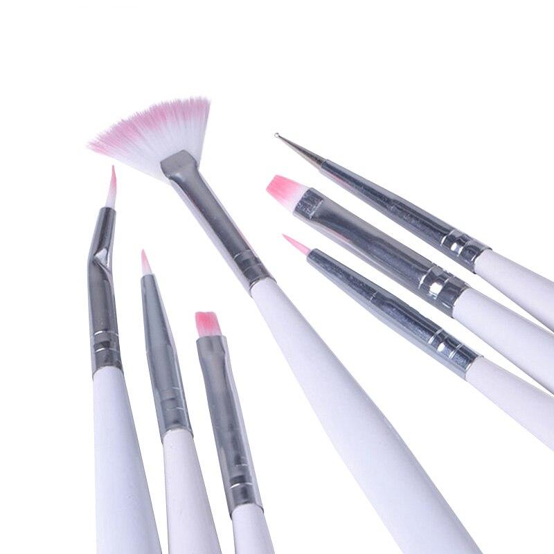 Hot New 7Pcs Nail Painting Brushes UV Gel Acrylic Nail Art Builder ...