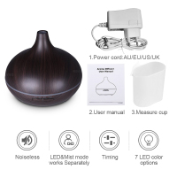 300ml Air Humidifier Essential Oil Diffuser Aroma Lamp Aromatherapy Electric Aroma Diffuser Mist Maker for Home-Wood 5