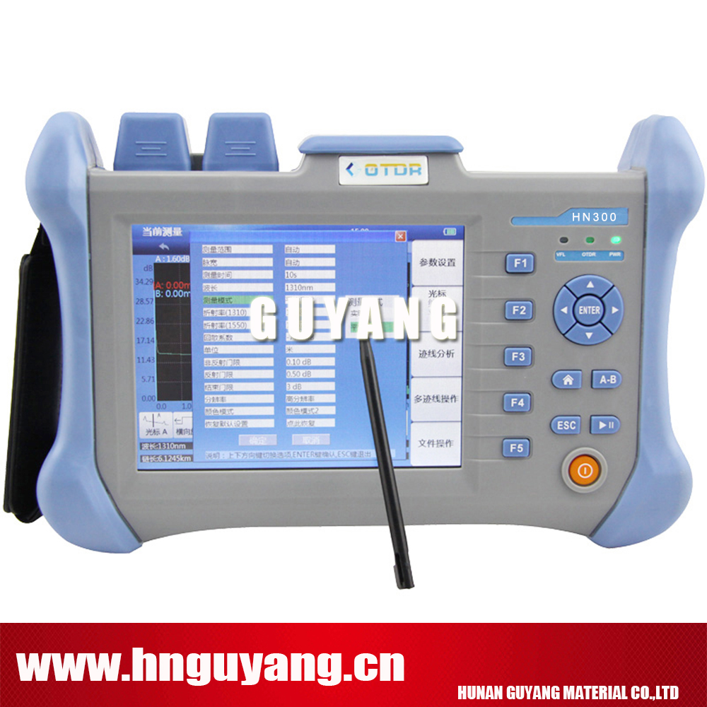 GUYANG HN300B 5.6inch touchscreen Optical Time Domain Reflectometer SM handheld OTDR 1310/1550nm 32/30DB build in 10mw VFL