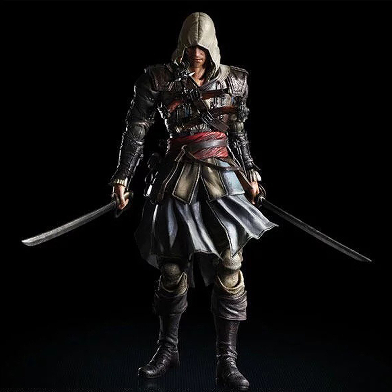 27cm Play Arts Kai Movable Figurine Assassin's Creed Edward PVC Action Figure Toy Doll Kids Adult Collection Model Gift 27cm play arts kai movable figurine superhero thor odinson pvc action figure toy doll kids adult collection model gift