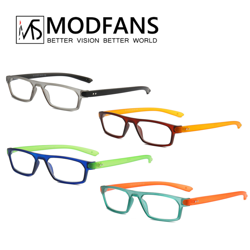 Reading Glasses Men Women Rectangular Presbyopic Eyeglasses Spring Hings Colorful Fashion Diopter Glass +1 +1.5 +2 +2.5 +3 +3.5