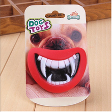 Dog Toys Funny Monster Mouth For Pet Products Soft Plastic Toy Squeak Devil's Lip Sound Dog Playing Chewing Puppy