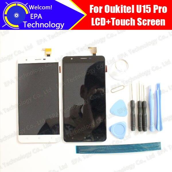 imágenes para Oukitel U15 Pro Pantalla LCD + Digitizador de la Pantalla Táctil Original del 100% Probado LCD Panel de Pantalla de Vidrio Para U15 Pro + herramientas + Adhesivo
