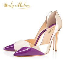 Onlymaker 2017 Summer Women Fashion High Heels Pointed Toe Stiletto Sandals Wedding&Party&Evening Pumps  Shoes ,Large Size 4-16