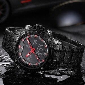 Image 4 - Naviforce montre à Quartz pour hommes, montre bracelet de sport analogique LED, de marque de luxe, style militaire, pour hommes