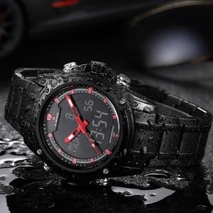 Image 4 - Часы Naviforce мужские, люксовый бренд, кварцевые, аналоговые, светодиодный, спортивные, армейские, военные, наручные часы