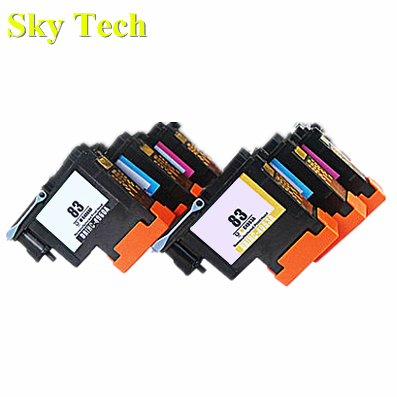 One set 6 pcs Remanufactured Print Head For HP 83 , C4960A to C4965A Printhead For Hp DesignJet 5000 5500 printer . 1 pcs encoder strip for hp c9050 80009 for hp designjet 4308 multi function printer