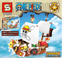 SY 6299 Movie Series MIni Pirate Boat Ship Set bulding Blocks Bricks Educational Toys Birthday Gifts For Kids