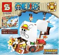 SY 6299 Movie Series MIni Pirate Boat Ship Set bulding Blocks Bricks Educational Toys Birthday Gifts For Kids