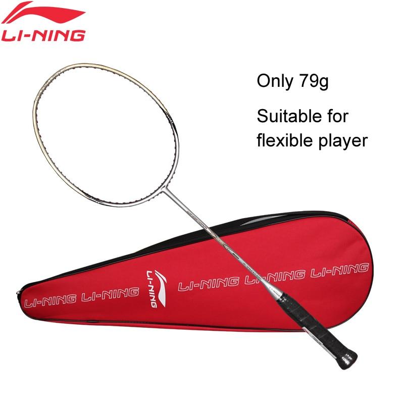 Li-Ning WINDSTORM 700 Badminton Single Racket Carbon Fiber Defensive Light LiNing Rackets AYPJ022 ZYF300