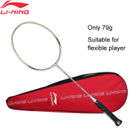 Li Ning WINDSTORM 700 Badminton Single Racket Carbon Fiber Defensive Light LiNing Rackets AYPJ022 ZYF300