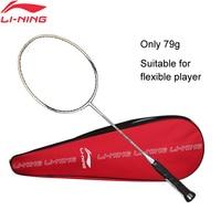 Li Ning WINDSTORM 700 Badminton Single Racket Carbon Fiber Defensive Light LiNing Rackets AYPJ022 ZYF300