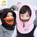 Novas crianças Inverno Chapéu do Inverno do bebê ouvido um pescoço manga cap cabeça V-0404