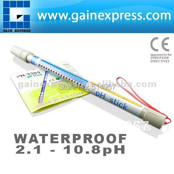 Handheld Waterproof  pH Stick Hydroponic Dipstick Meter Tester +  Built in ATC  2.1~10.8pH Range  цены