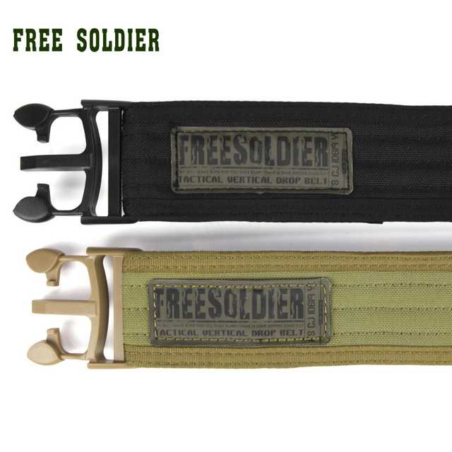 FREE SOLDIER Outdoor Sport Tactical Belt Accessories For Camping Hiking Molle Belt nylon Waist Belt For Men 3